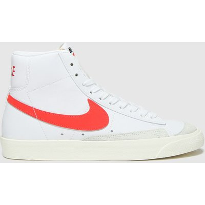 Nike White & Red Blazer Mid 77 Trainers