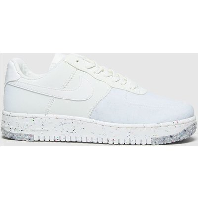 Nike White & Pl Blue Air Force 1 Crater Trainers