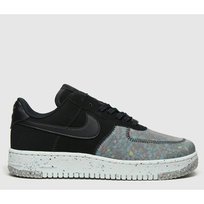 Nike Black & Grey Air Force 1 Crater Trainers