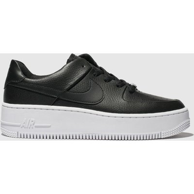Nike Black & White Air Force 1 Sage Low Trainers