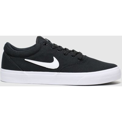 Nike SB Black & White Charge Trainers