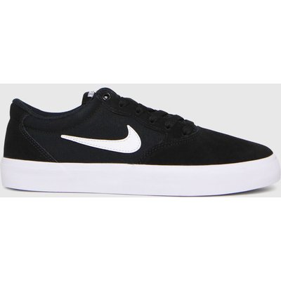 Nike SB Black & White Chron Solarsoft Trainers