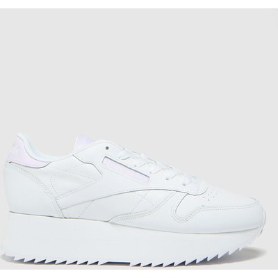 Reebok White Club Leather Double Trainers