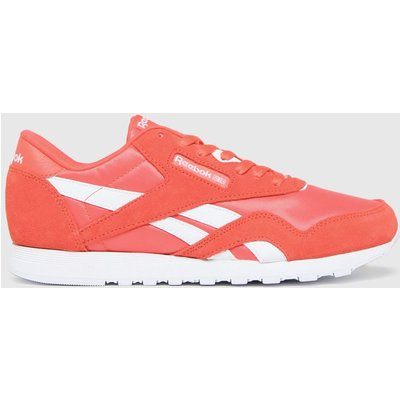 Reebok Red Cl Nylon Trainers