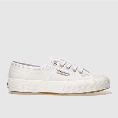 Superga White 2750 Leather Trainers
