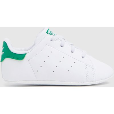Adidas White & Green Stan Smith Crib Shoes Baby