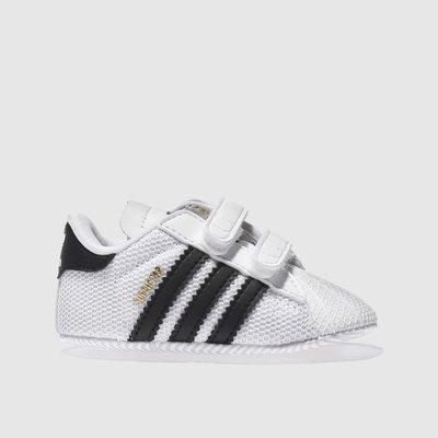 Adidas White & Black Superstar Mesh Shoes Baby