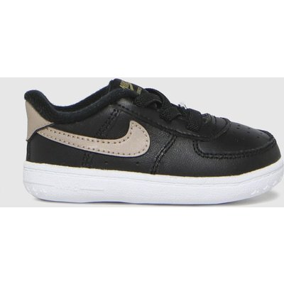 Nike Black & Gold Air Force 1 Shoes Baby