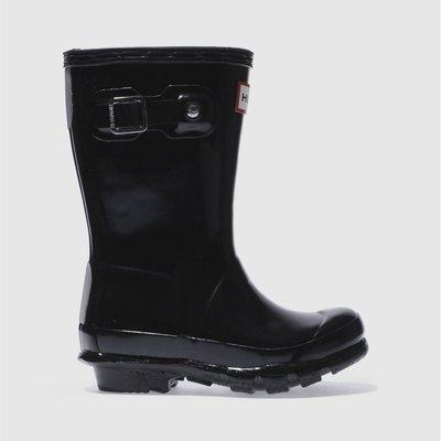 Hunter Black Original Gloss Boots Toddler