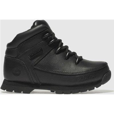 Timberland Black Euro Sprint Boots Junior