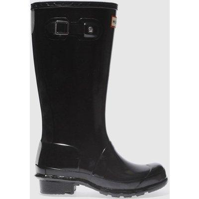 Hunter Black Original Gloss Boots Junior