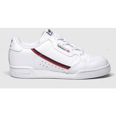 Adidas White & Red Continental 80 Trainers Toddler