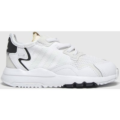 Adidas White Nite Jogger Trainers Toddler