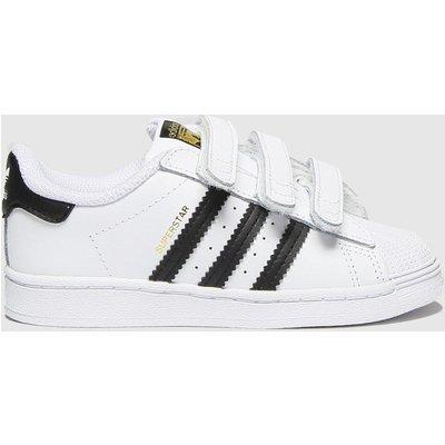 Adidas White & Black Superstar 3v Trainers Toddler