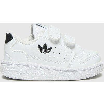 Adidas White & Black Ny90 2v Trainers Toddler