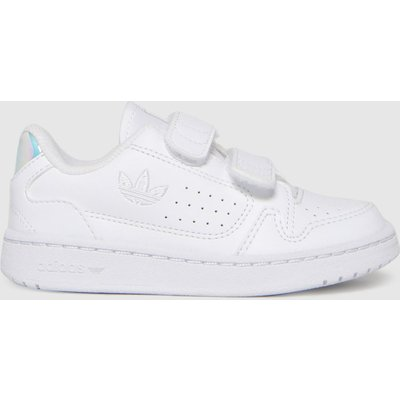 Adidas White & Silver Ny 90 2v Trainers Toddler