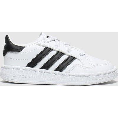 Adidas White & Black Team Court El Trainers Toddler