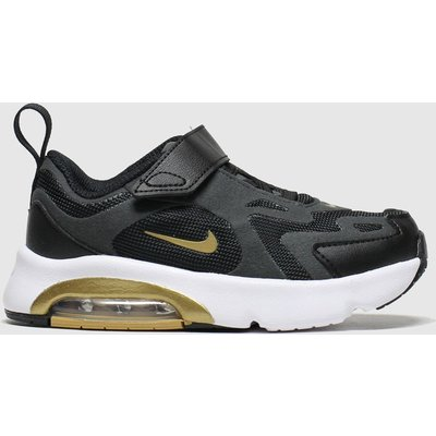Nike Black & Gold Air Max 200 Trainers Toddler