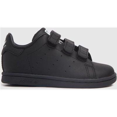 Adidas Black & White Stan Smith 2v Trainers Toddler