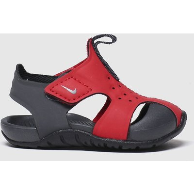 Nike Black & Red Sunray Protect 2 Sandals Toddler