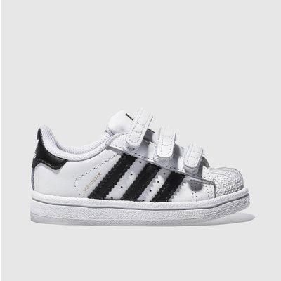 Adidas White & Black Superstar Foundation Trainers Toddler