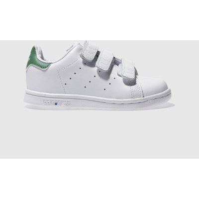 Adidas White & Green Stan Smith Trainers Toddler