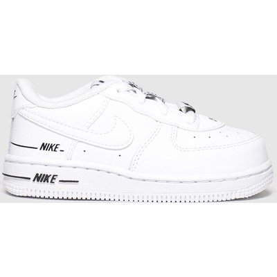 Nike White & Black Air Force 1 Lv8 3 Trainers Toddler