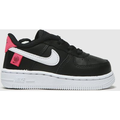 Nike Black & Red Air Force 1 Lv8 1 Ww Trainers Toddler