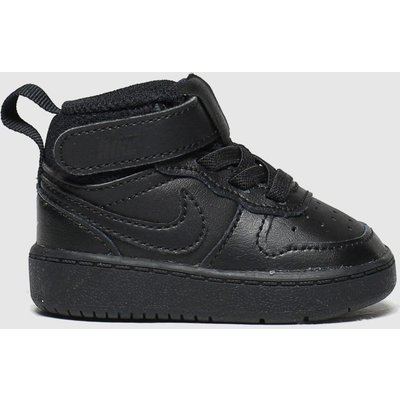 Nike Black Court Borough Mid 2 Trainers Toddler
