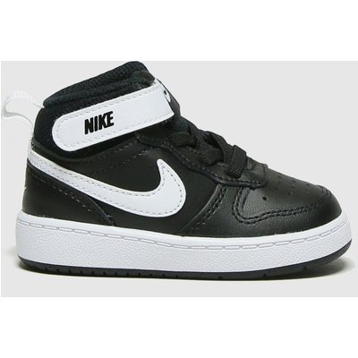 Nike Black & White Court Borough Mid 2 Trainers Toddler