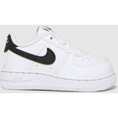 Nike White & Black Air Force 1 Trainers Toddler