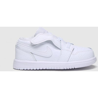 Nike Jordan White Air Jordan 1 Low Trainers Toddler