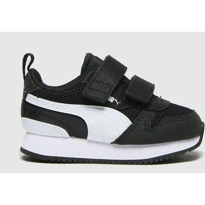PUMA Black & White R78 V Trainers Toddler