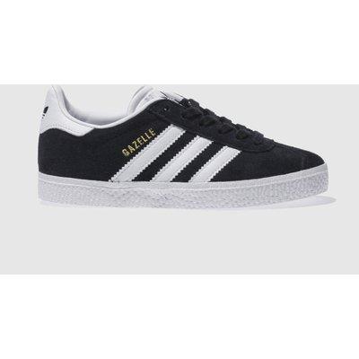 Adidas Black & White Gazelle Trainers Junior