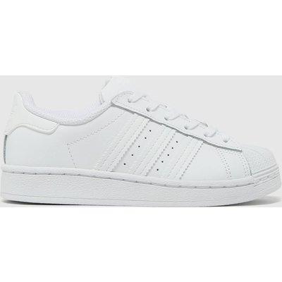 Adidas White Superstar Trainers Junior