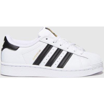 Adidas White & Black Superstar Trainers Junior
