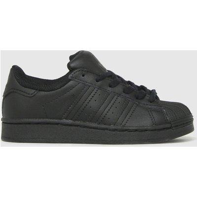 Adidas Black Superstar Trainers Junior