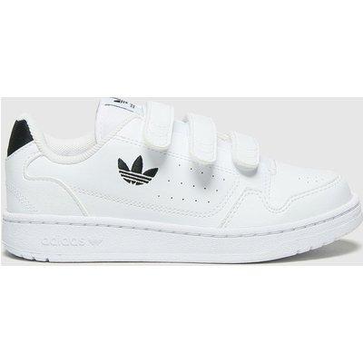 Adidas White & Black Ny90 3v Trainers Junior