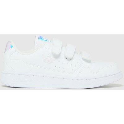Adidas White & Silver Ny 90 3v Trainers Junior
