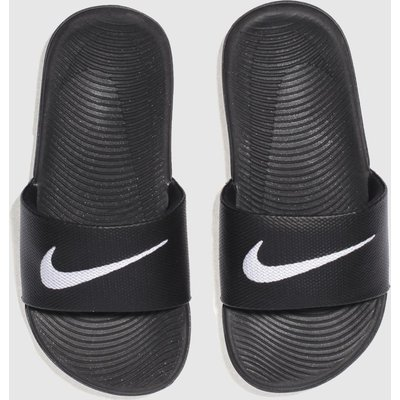 Nike Black & White Kawa Slide Sandals Junior