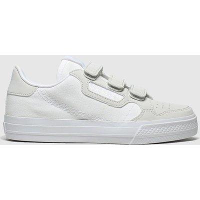 Adidas White & Grey Continental Vulc Cf Trainers Junior