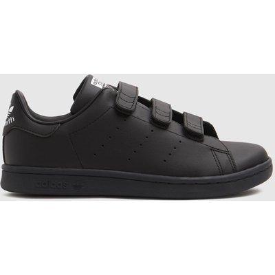 Adidas Black & White Stan Smith 3v Trainers Junior