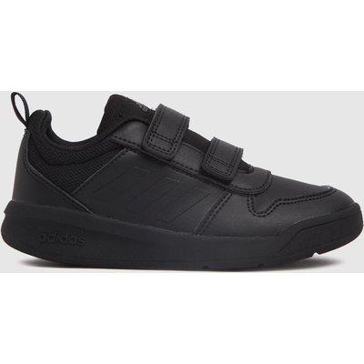 Adidas Black Tensaur Velcro Trainers Junior