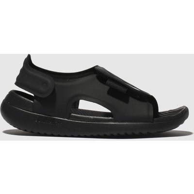 Nike Black & White Sunray Adjust 5 Sandals Junior