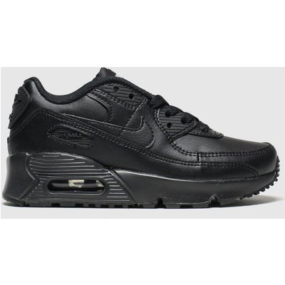 Nike Black Air Max 90 Ltr Trainers Junior