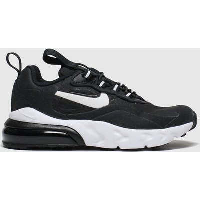 Nike Black & White Air Max 270 React Jnr Trainers Junior