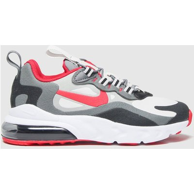 Nike Black & Red Air Max 270 React Trainers Junior
