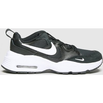 Nike Black & White Air Max Fusion Trainers Junior