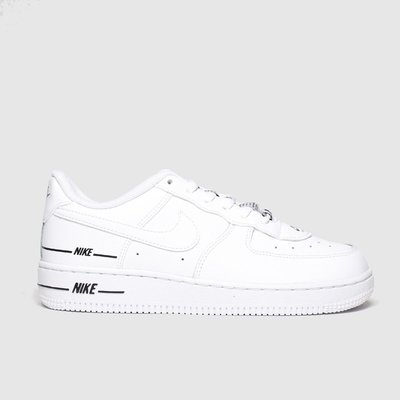 Nike White & Black Air Force 1 Lv8 3 Trainers Junior
