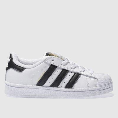 Adidas White & Black Superstar Foundation Trainers Junior